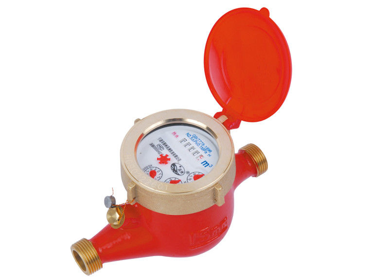 Rotary Vane Hot Water Meter 1/2 Inch Multi Jet Wet Dial LXSR-50E